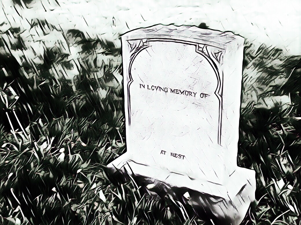 Not the actual tombstone
